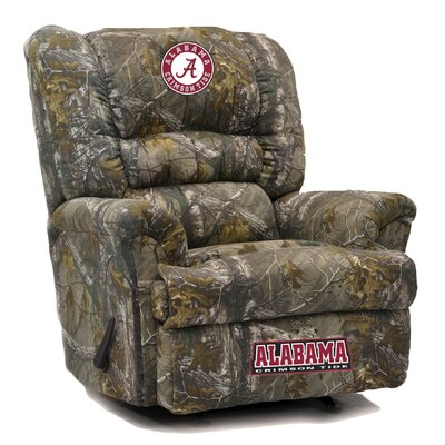 Big Daddy NCAA Camo Recliner College Team: University of Alabama