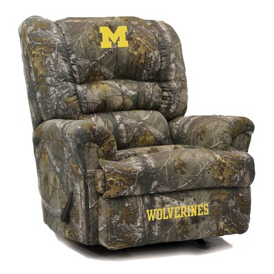 Big Daddy NCAA Camo Recliner College Team: University of Michigan