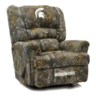 Big Daddy NCAA Camo Recliner College Team: Michigan State