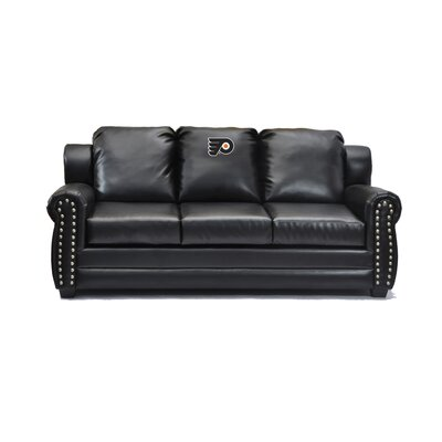 NHL Coach Leather Sofa NHL Team: Philadelphia Flyers�