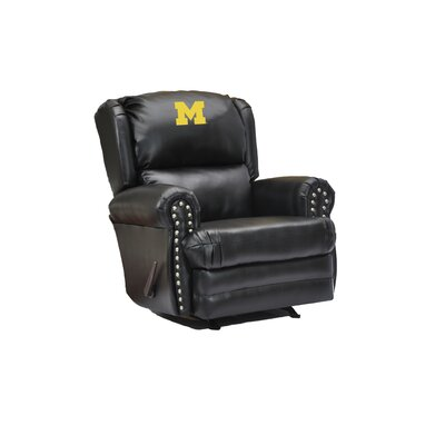 Coach Leather Recliner College Team: University of Michigan