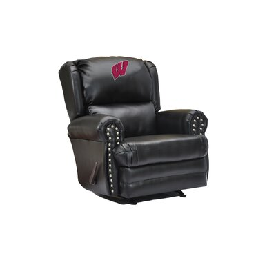 Coach Leather Recliner College Team: University of Wisconsin