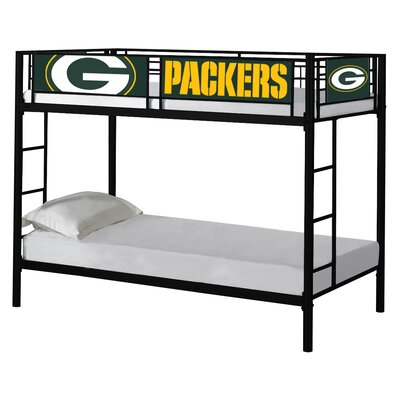 NFL Twin over Twin Bunk Bed NFL Team: Green Bay Packers