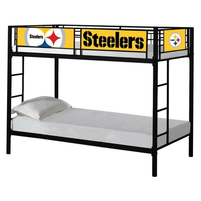 NFL Twin over Twin Bunk Bed NFL Team: Pittsburgh Steelers