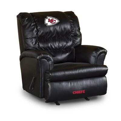 NFL Leather Manual Recliner NFL Team: Kansas City Chiefs