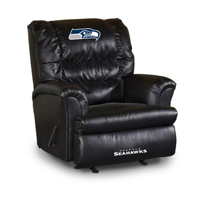 NFL Leather Manual Recliner NFL Team: Seattle Seahawks