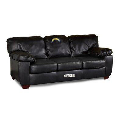 NFL Classic Leather Sofa NFL Team: San Diego Chargers