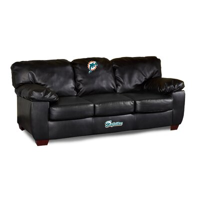 NFL Classic Leather Sofa NFL Team: Miami Dolphins