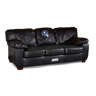 NFL Classic Leather Sofa NFL Team: New York Giants