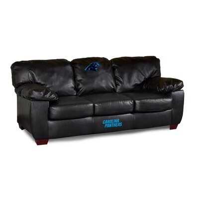 NFL Classic Leather Sofa NFL Team: Carolina Panthers