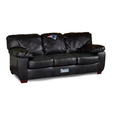 NFL Classic Leather Sofa NFL Team: New England Patriots