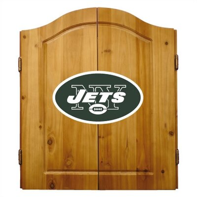Kitchen Cabinets  York on Chandeliers York On Imperial New York Jets Complete Dart Cabinet Set