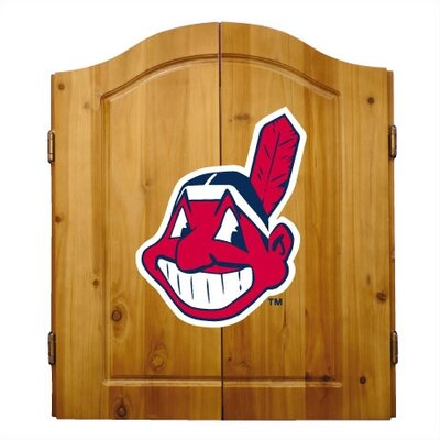 Imperial MLB Team Logo Complete Dart Cabinet Set - MLB Team: Cleveland Indians at Sears.com