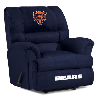 NFL Big Daddy Manual Recliner NFL Team: Chicago Bears