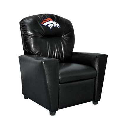 Nfl Kids Faux Leather Recliner With Cup Holder