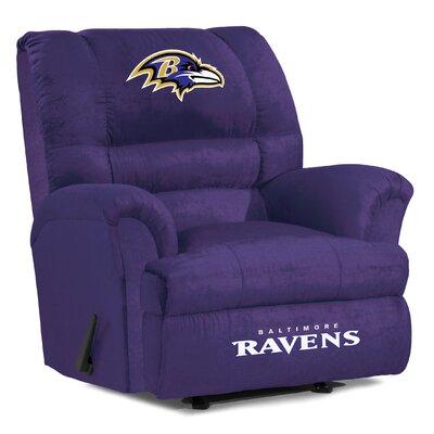 NFL Big Daddy Manual Recliner NFL Team: Baltimore Ravens