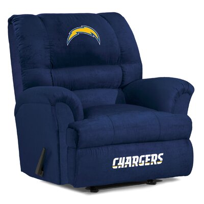 NFL Big Daddy Manual Recliner NFL Team: San Diego Chargers