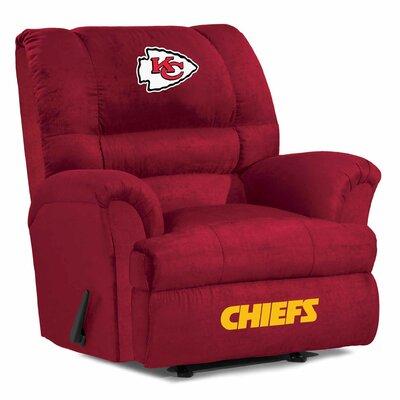 NFL Big Daddy Manual Recliner NFL Team: Kansas City Chiefs