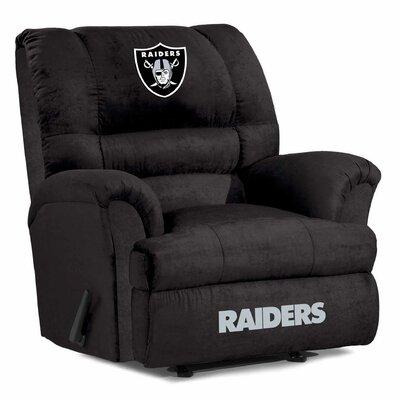 NFL Big Daddy Manual Recliner NFL Team: Oakland Raiders