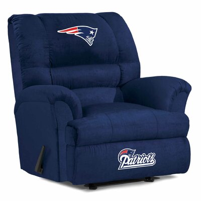 NFL Big Daddy Manual Recliner NFL Team: New England Patriots