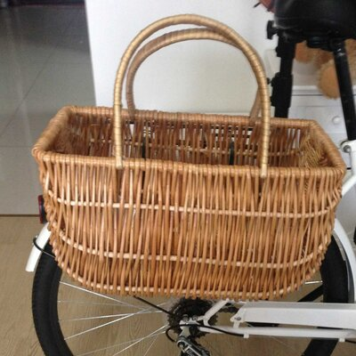 Wicker Shopping Bike Basket QI003083