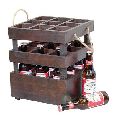 Stackable Crate 9 Bottle Tabletop Wine Rack