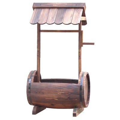 Wood Barrel Planter QI003144