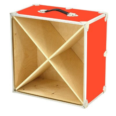 24 Bottle Tabletop Wine Rack Color: Orange