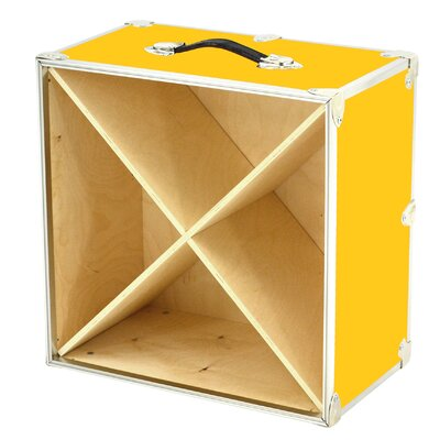 24 Bottle Tabletop Wine Rack Color: Yellow