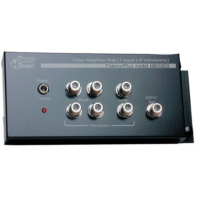 1 x 6 Amplified TV Splitter