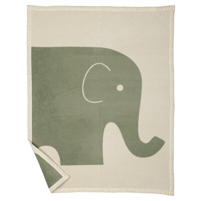 Elephant Baby Blanket Color: Jade