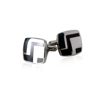 Stainless Cufflinks in Black