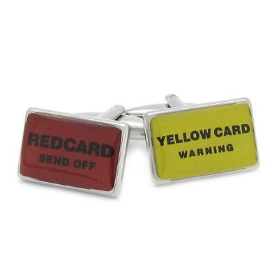 Soccer Football Card Cufflinks