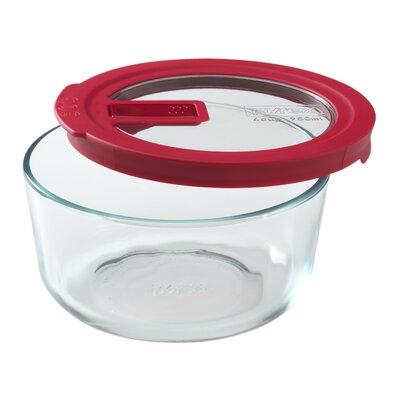 No Leak Lids 32 Oz. 4 Cup Round Storage Dish 1106823