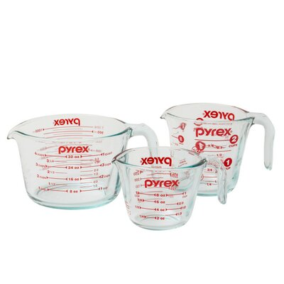 Pyrex 3 Piece Prepware Measuring Cup Set 1118990