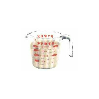 Pyrex Prepware 2 Cup Measuring Cup with Red Graphics 6001075