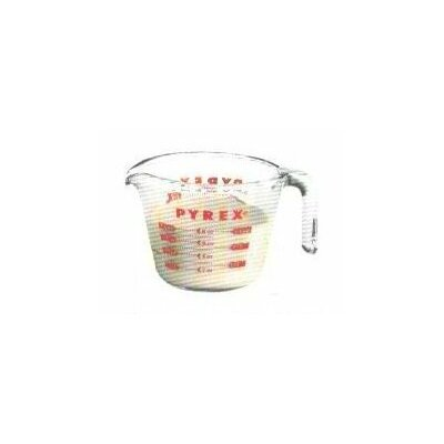 Pyrex Prepware 1 Cup Measuring Cup with Red Graphics 6001074
