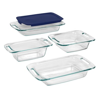 Easy Grab 5 Piece Bakeware Set With Blue Plastic Cover