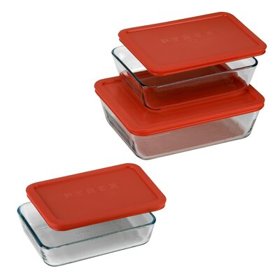 Pyrex 6 Piece Bakeware/Cookware Set with Plastic Covers at Sears.com
