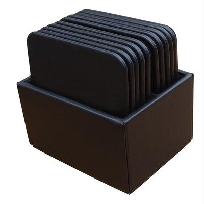 Leather Square Coaster F07D59A7D11046E38403C4B5F7C344EA