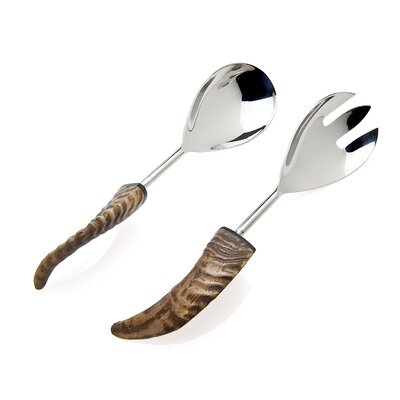 Godinger Silver Art Co Natural Horn Salad Spoon and Fork at Sears.com