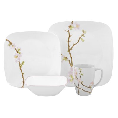 Corelle Square Cherry Blossom Dinnerware Set (Set of 2)