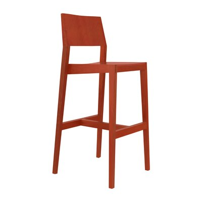 30 Bar Stool Upholstery: Red