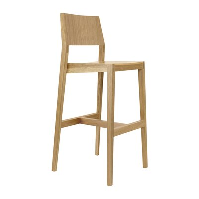 30 Bar Stool Upholstery: Natural White Oak