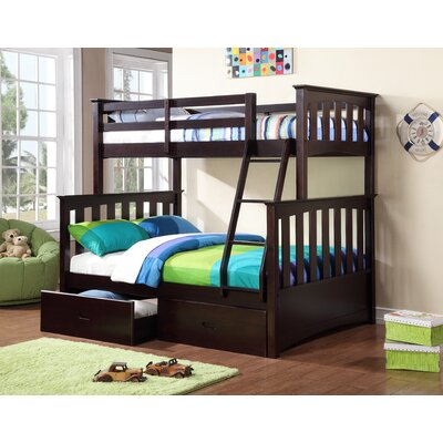 Kira Twin over Full Bunk Bed with Storage