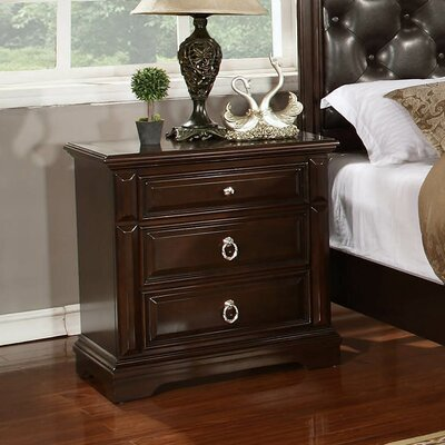 Caprivi 3 Drawer Nightstand