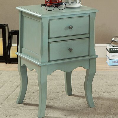 Southbury End Table with Storage Color: Teal