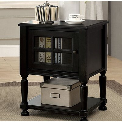 Southmont End Table with Storage Color: Black