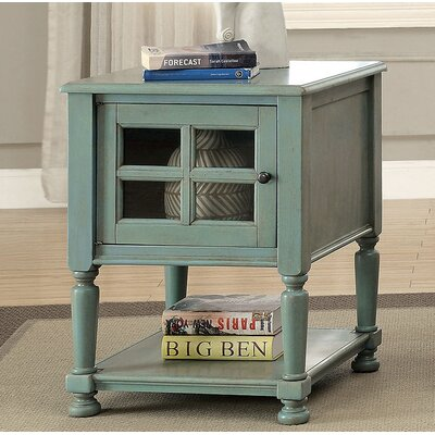 Southmont End Table with Storage Color: Teal