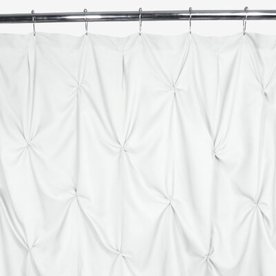 Watershed Pouf Shower Curtain Color: White